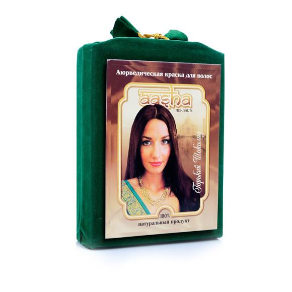 Аюрведическая краска для волос Горький шоколад Aasha Herbals