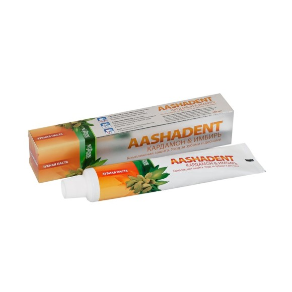 Зубная паста Кардамон & Имбирь Aasha Herbals