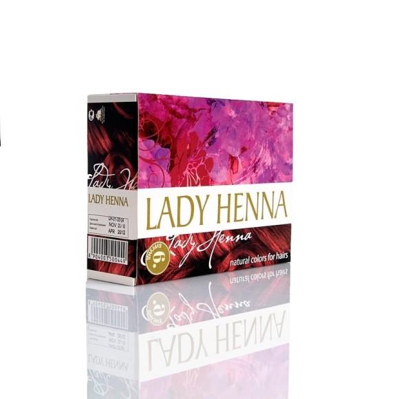 Краска для волос на основе хны Бургунд Lady Henna