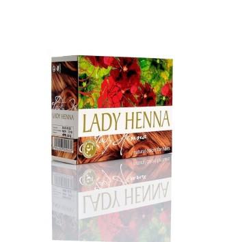 Краска для волос на основе хны Светло-коричневая Lady Henna
