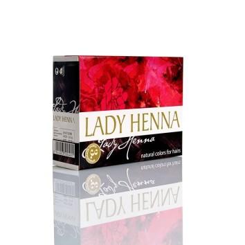 Краска для волос на основе хны Темно-коричневая Lady Henna