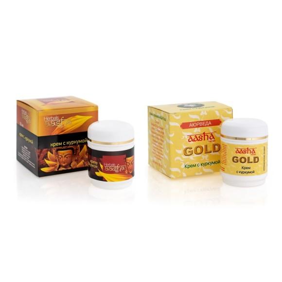 Крем для лица с куркумой Aasha Herbals