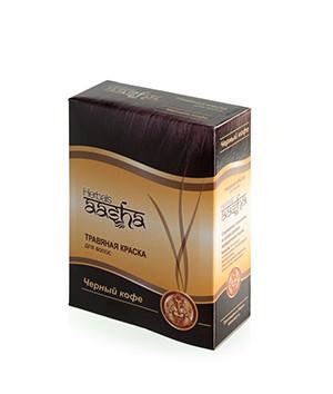 Травяная краска для волос Черный кофе Aasha Herbals