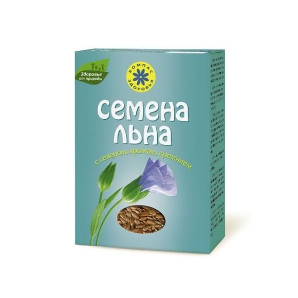 Семена льна с селеном, хромом и кремнием Компас Здоровья
