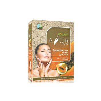 Маска с папайей и мултани глиной для жирной кожи Ayur Plus
