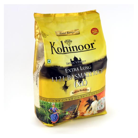 Рис басмати супер длиннозерный 2 кг. Kohinoor